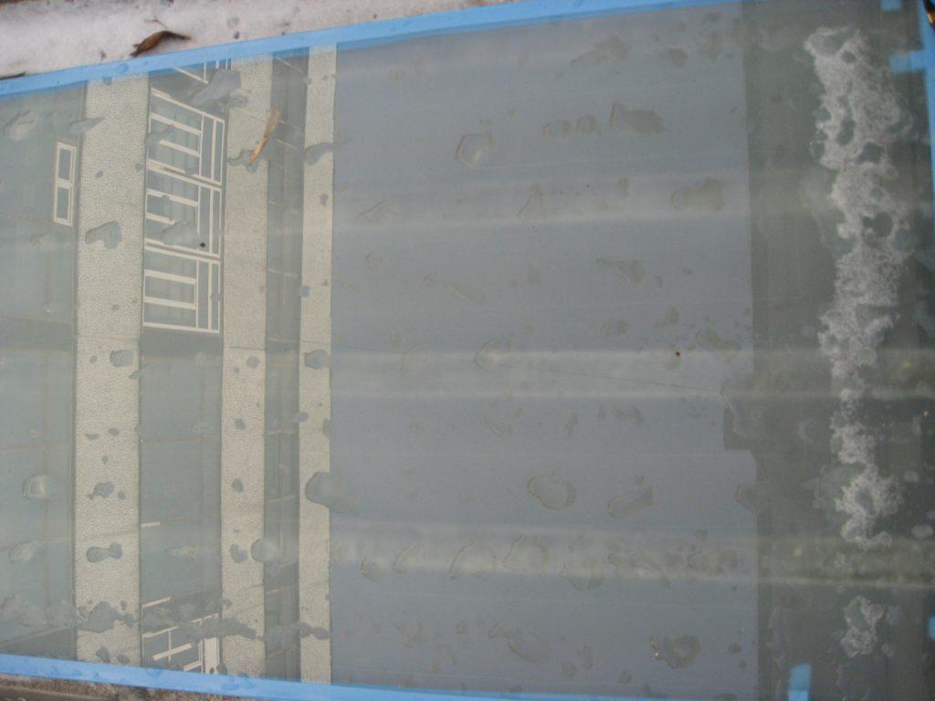 Испытания опытного образца многослойного архитектурного стекла с электроподогревом